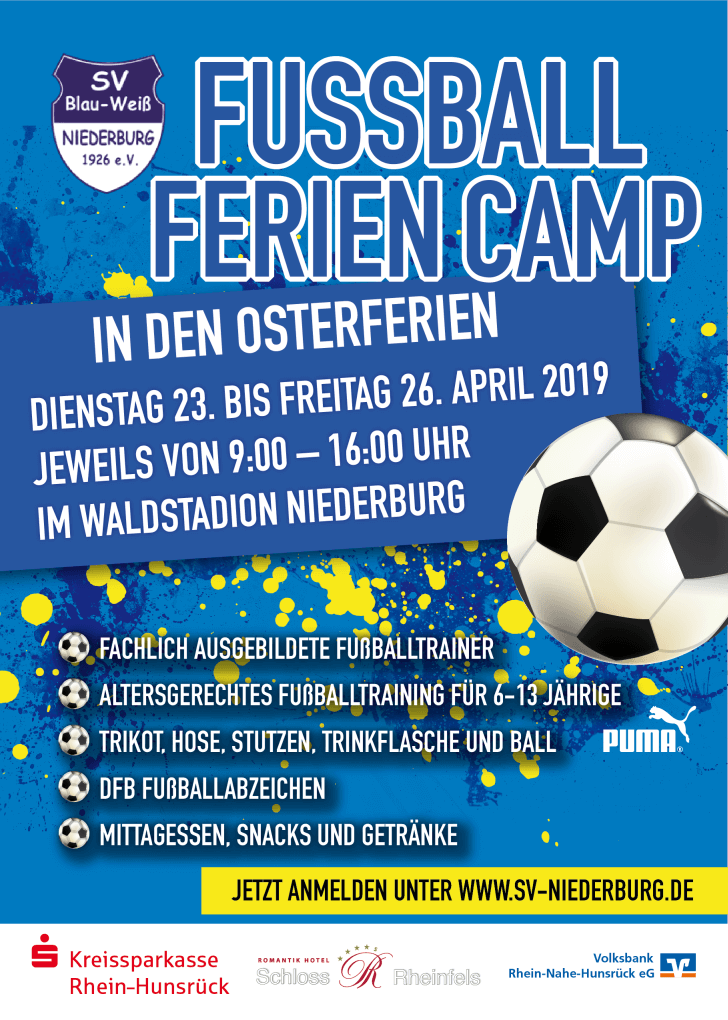 Fussball Feriencamp 2019