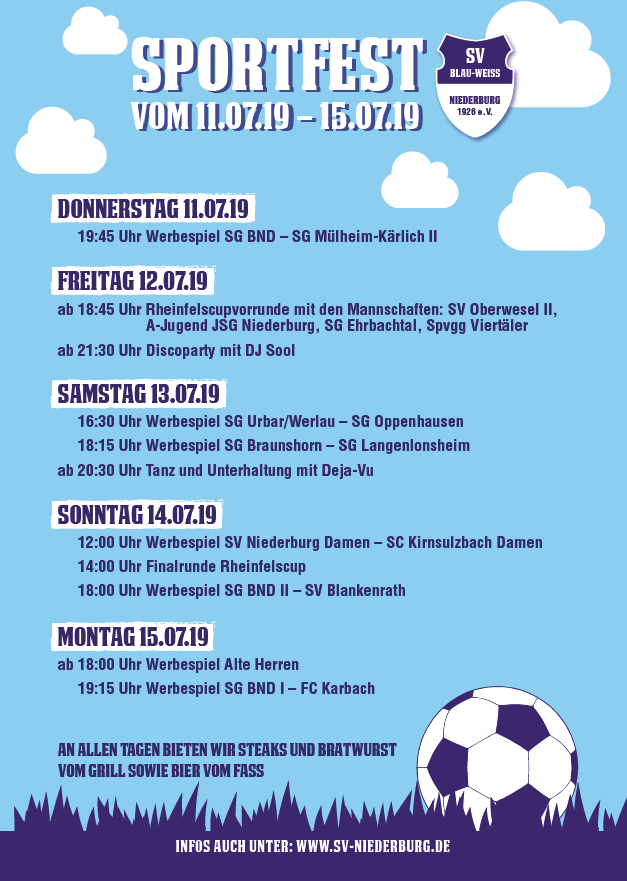 Sportfest 2019 - SV Niederburg