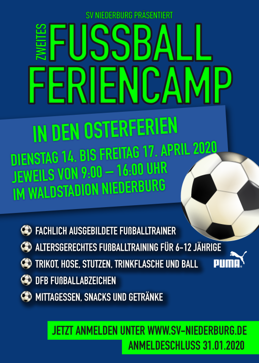 Fussball Feriencamp 2020